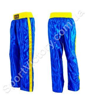 Детские штаны для кикбоксинга Blue