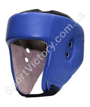 Шлем боксерский Lev (кожаный) синий