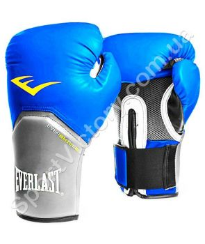 Боксерские перчатки Everlast Pro Style Elite (синие)