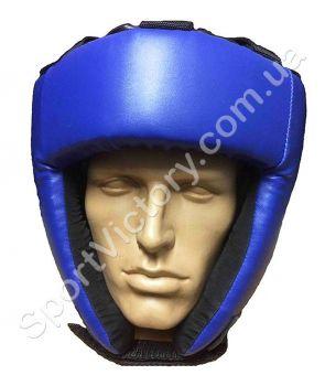 Боксерский шлем LEV (шнурки) синий