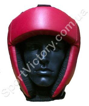 Боксерский шлем LEV (шнурки) красный