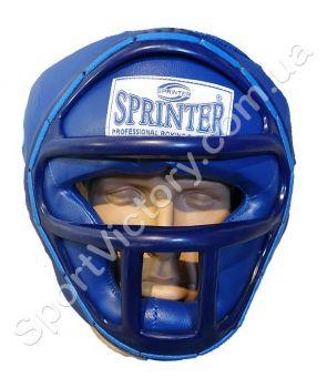 Боксерский шлем с решеткой Sprinter (синий)