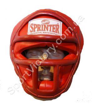 Боксерский шлем с решеткой Sprinter (красный)
